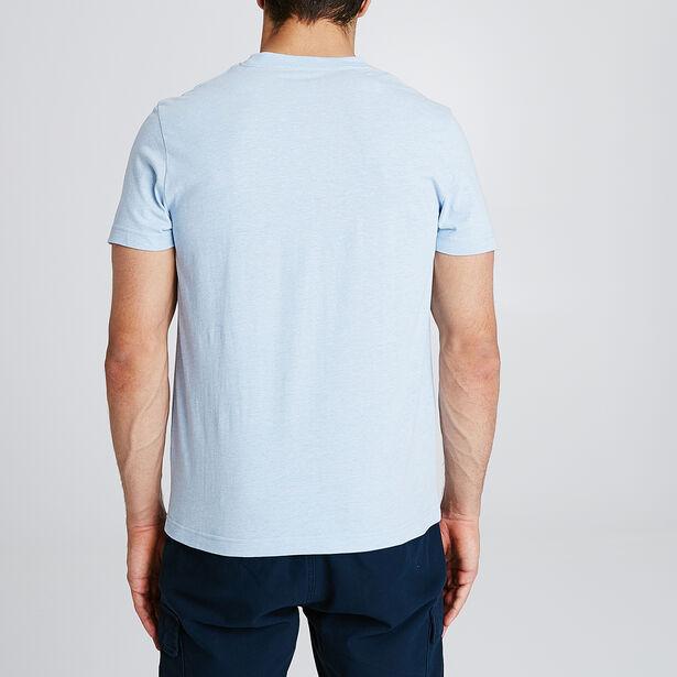 T-shirt met animatie vooraan 'Vacancier'