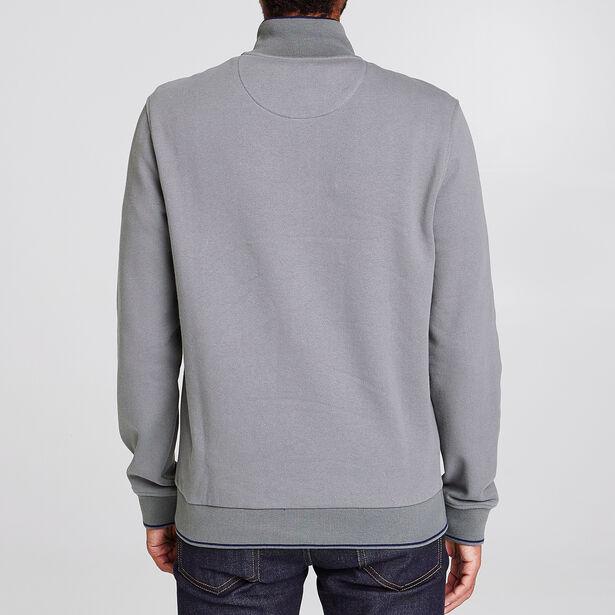 Sweater in twee stoffen met opstaande kraag