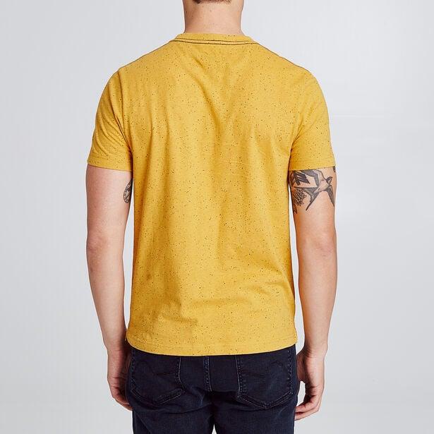 Tee shirt col rond motif origami éléphant