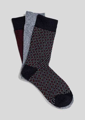 Lot de 3 paires de chaussettes fantaisie homme