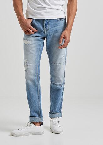 Jean straight stone