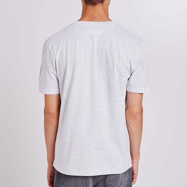 Tee shirt col rond imprimé modern