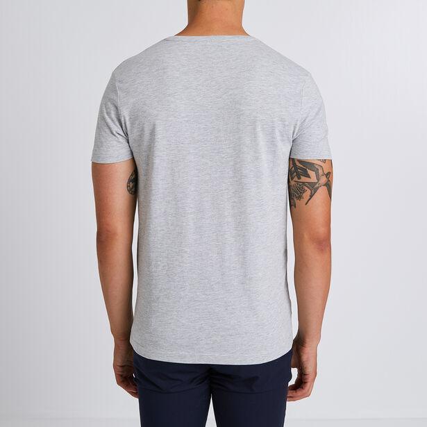 Tee shirt col V motif vélo région ALSACE LORRAINE