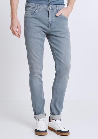 Jean Slim Urbanflex bleu-grisé