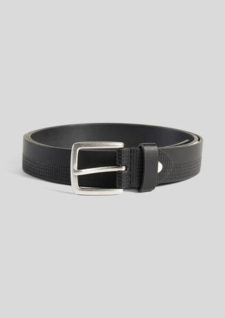 Cintura semi-goffrata nera