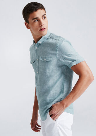 Chemise Lin Manches Courtes