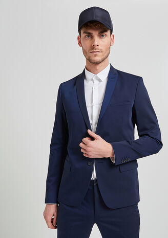 Veste de costume slim mélange laine