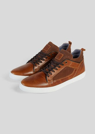 Sneaker alta SMOOTH in pelle