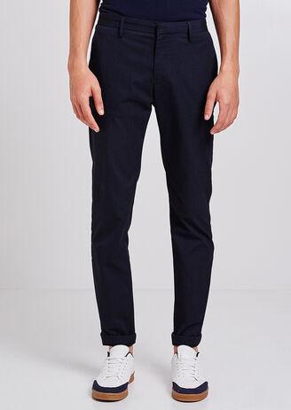 Pantalone Chino Slim in rilievo