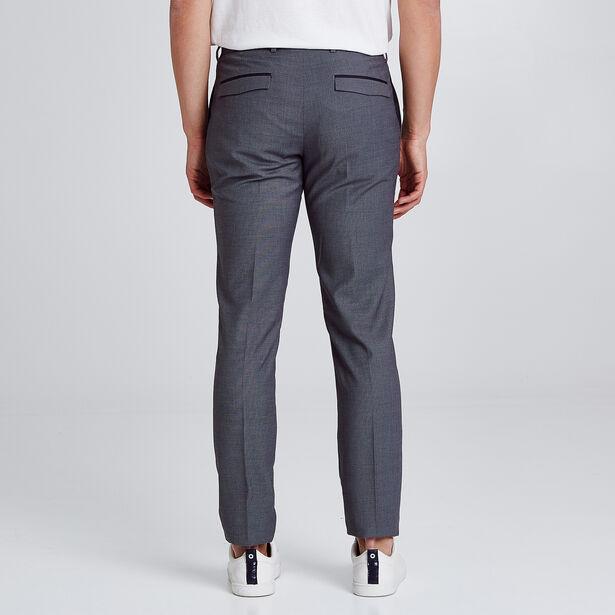 Pantalon de costume slim à motifs