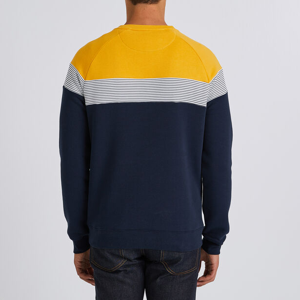 Colorblock molton sweater
