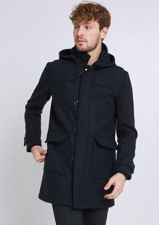 Duffle coat capuche amovible