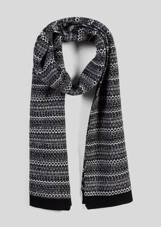 Sjaal in tricot met motieven