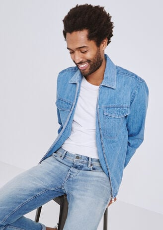 Overhemd in jeans