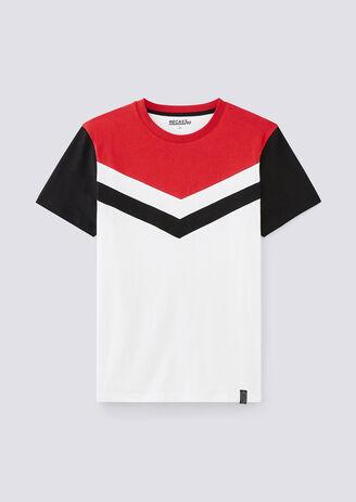 Tee shirt col rond colorblock Recast 90's