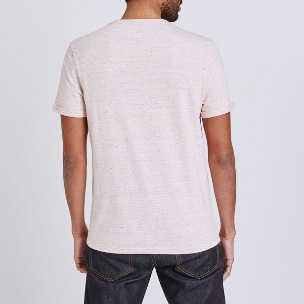 Tee shirt matière fantaisie à poche contrastante