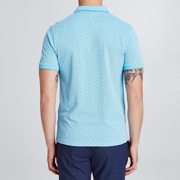 Polo met korte mouw en all-over print