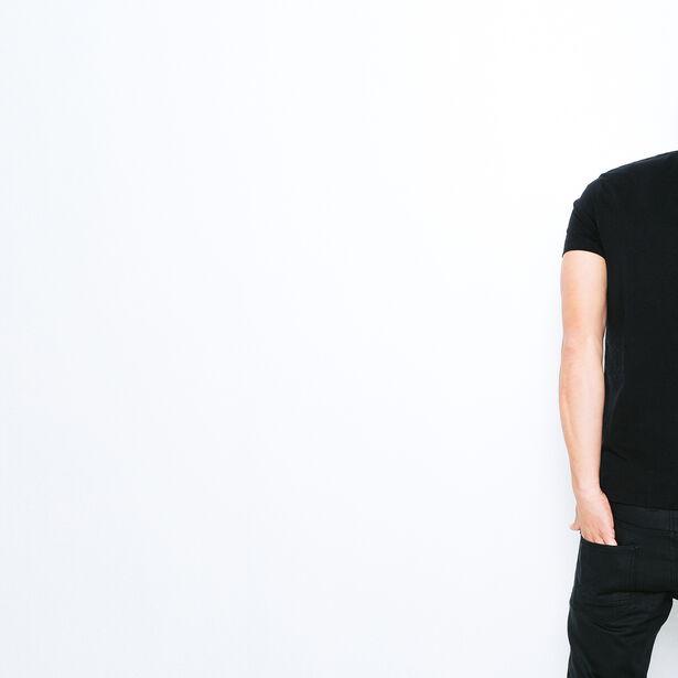 T-shirt color block et imprimé fleurs poitrine