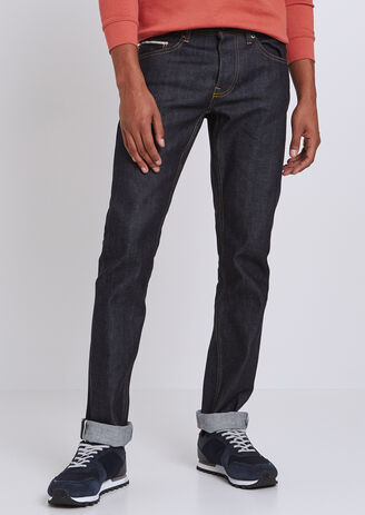 Jeans Straight Selvedge Grezzo