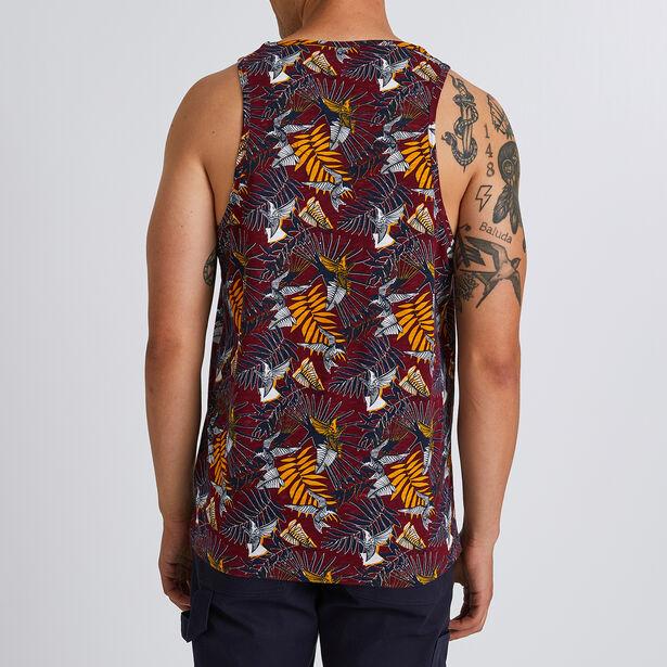 Tee shirt débardeur imprimé ethnique