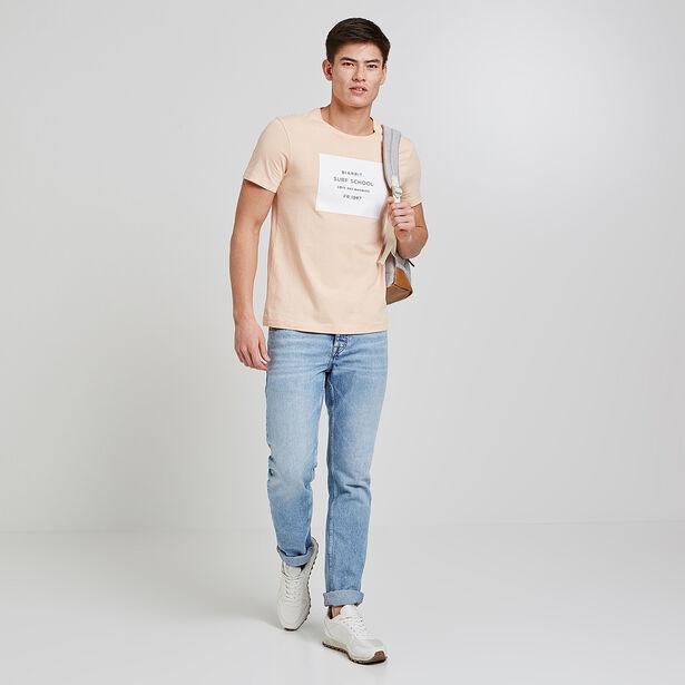 """Tee shirt imprimé """"Biarritz surf school"""""""