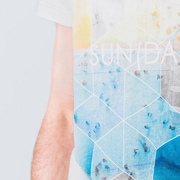 "T-shirt col rond imprimé ""Sunday"""