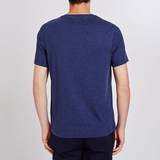 Effen T-shirt ronde hals en zak