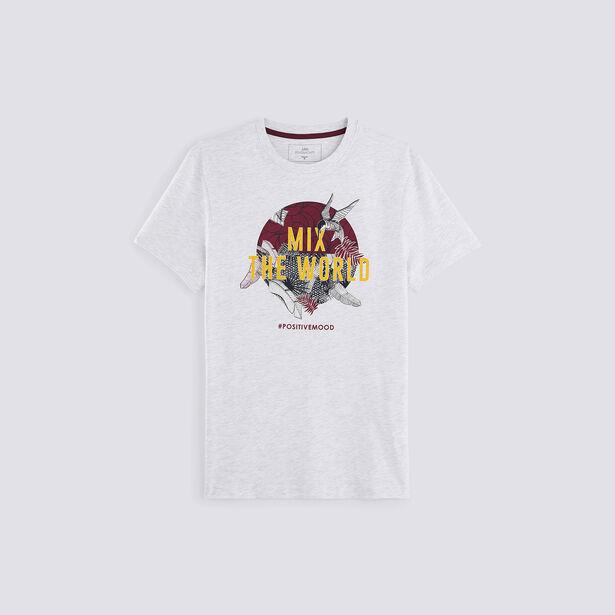 "T-shirt print floral ""MIX THE WORLD"""
