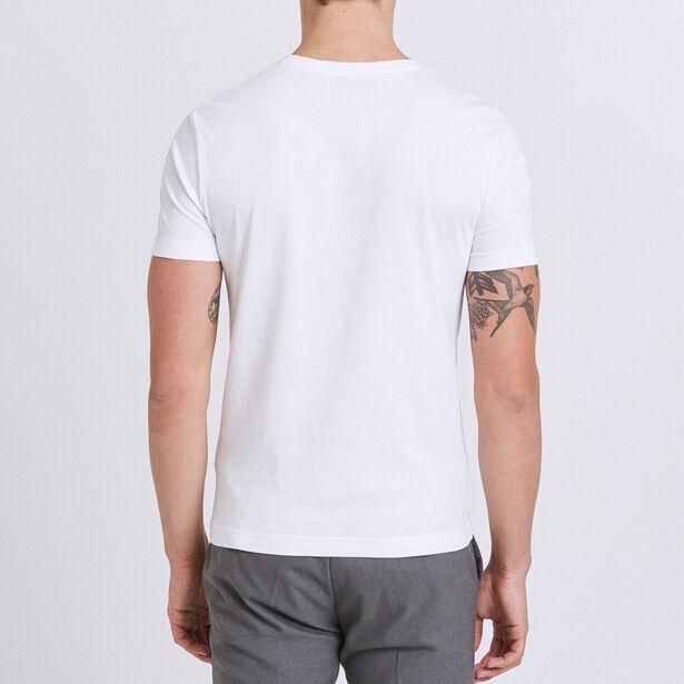Tee shirt col V imprimé photoprint street