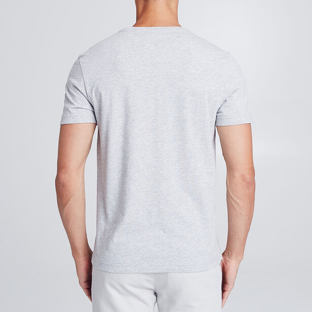 SlimT-shirt met wit-zwartprint vooraan