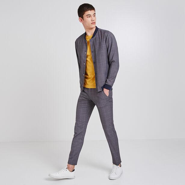 Pantalon de costume extra slim à carreaux