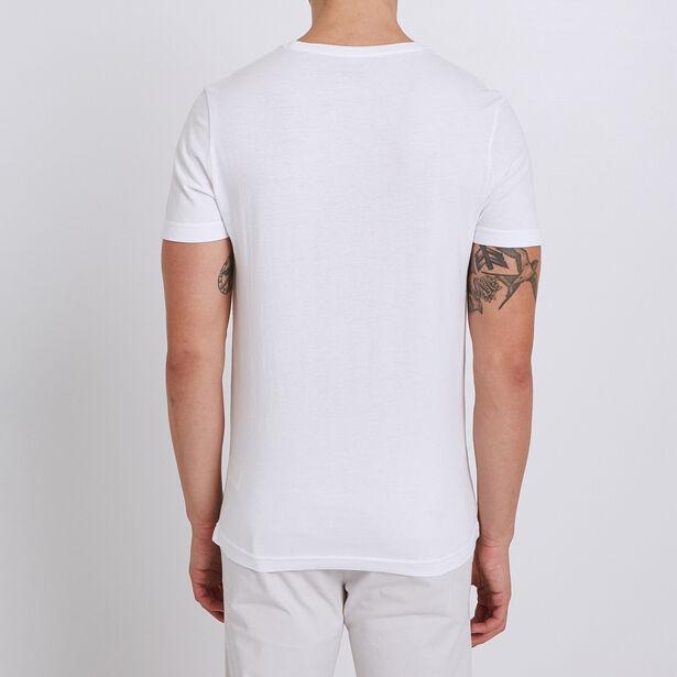 T-shirt met print van frites, knipoog naar Walloni
