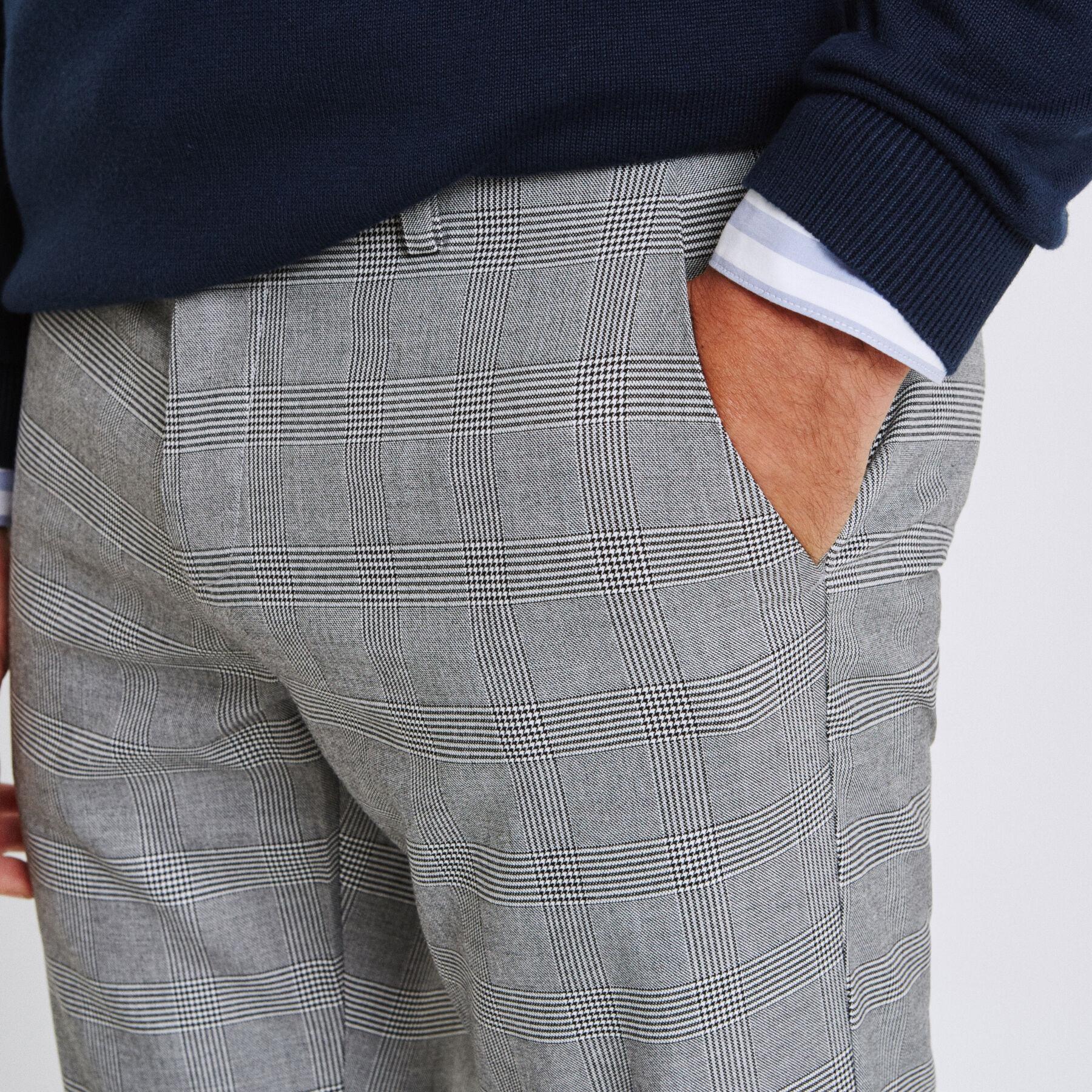 pantalon slim carreaux blanc carreaux homme jules. Black Bedroom Furniture Sets. Home Design Ideas