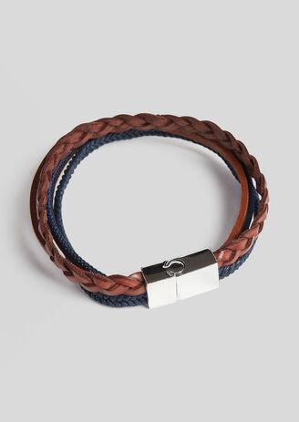 Bracelet Homme multi cordons en cuir