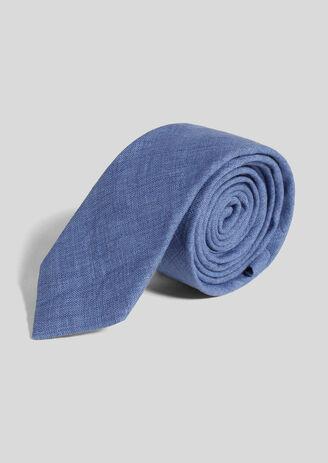 Cravate unie 100% lin