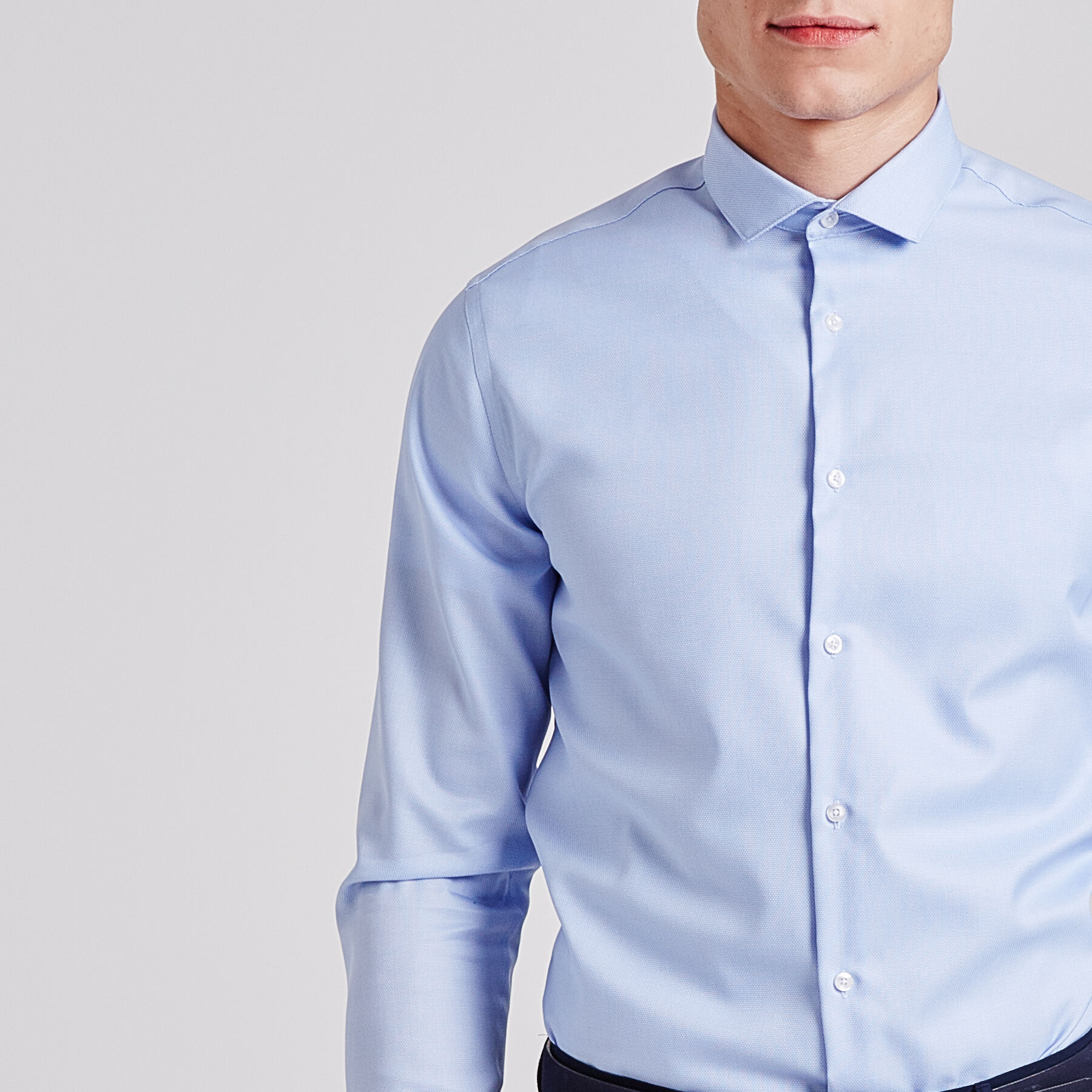 chemise r gular repassage facile bleu ciel homme jules. Black Bedroom Furniture Sets. Home Design Ideas
