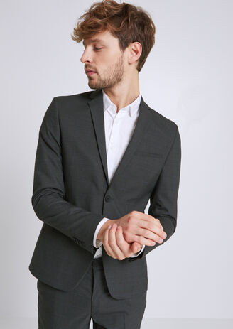 Veste de costume à carreaux extra slim