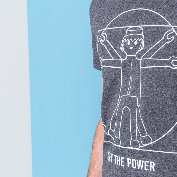 """T-shirt col rond """"Get the Power"""" Playmobil"""