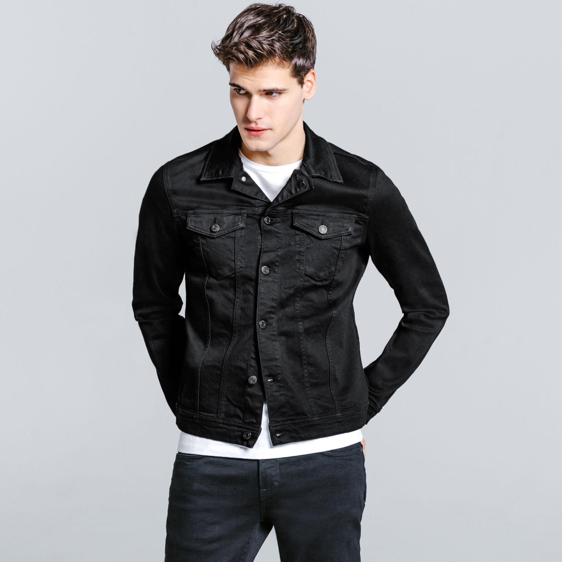 magasin en ligne abe74 aad24 Blouson en jean col chemise Homme - Jules