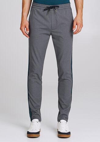 Pantalon coupe jogger à bandes