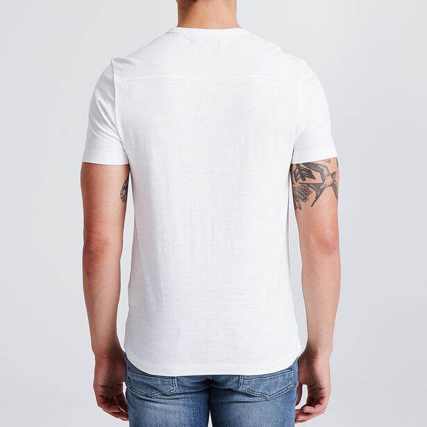 Tee shirt manches courtes col tunisien