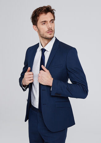 Veste de costume slim avec pin's