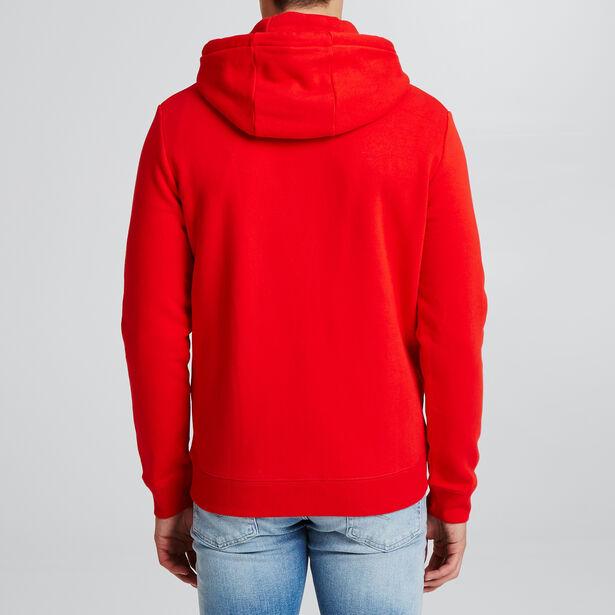 Sweater met kap en fantasiedetail