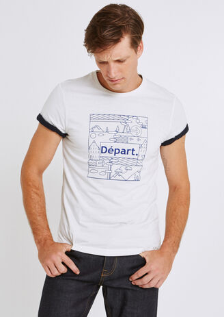 "Tee shirt imprimé ""départ"" 100%made in France"
