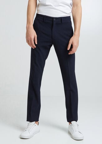 Pantalon de costume slim seersucker