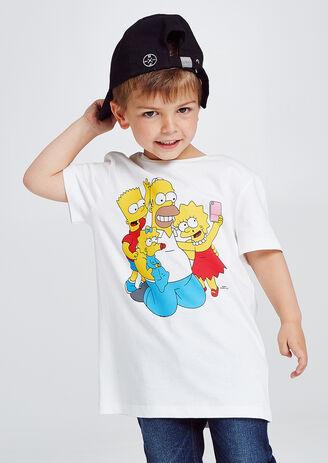 Kinder T-shirt onder licentie van The Simpsons met
