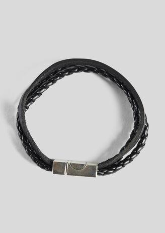 Bracelet 3 cordes noires