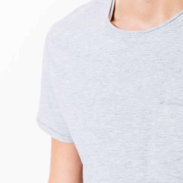 T-shirt col rond poche poitrine