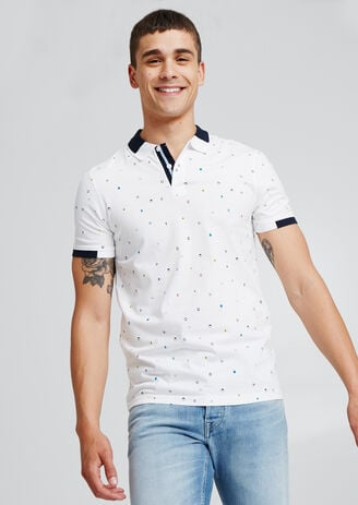 Polo met all-over print