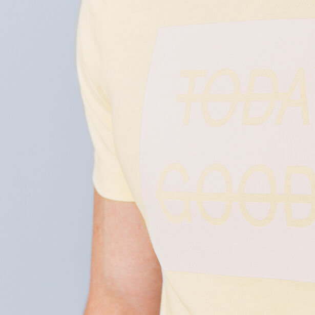 "T-shirt col rond imprimé ""Today the good day"""